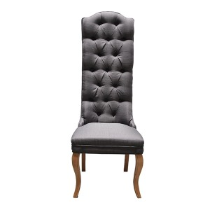 Paris Charcoal Tall Back Dining Chair