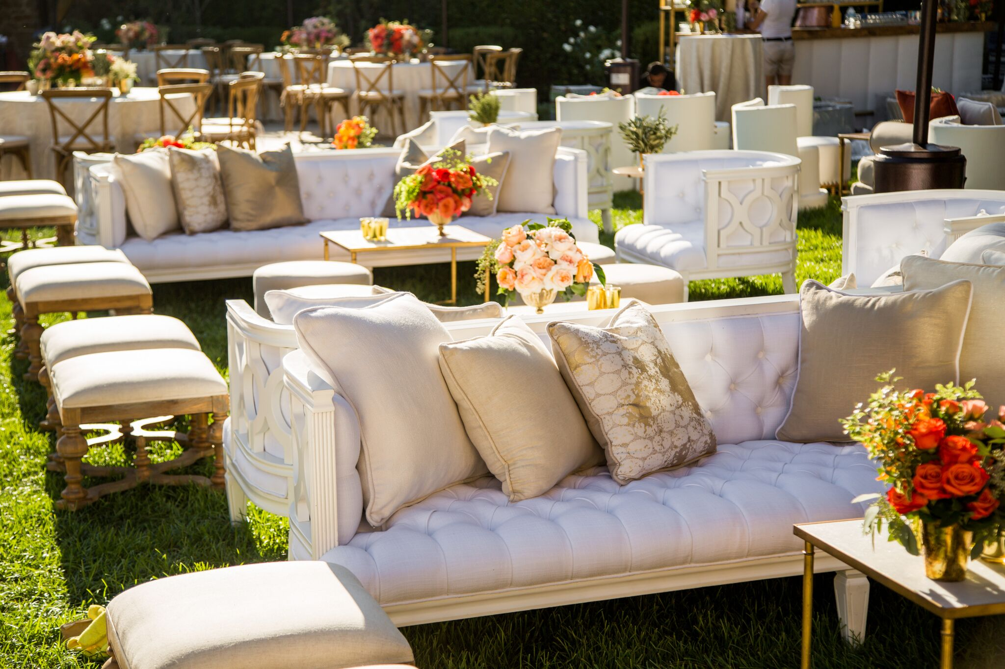 revelry event designers, levine fox, marks garden, backyard wedding