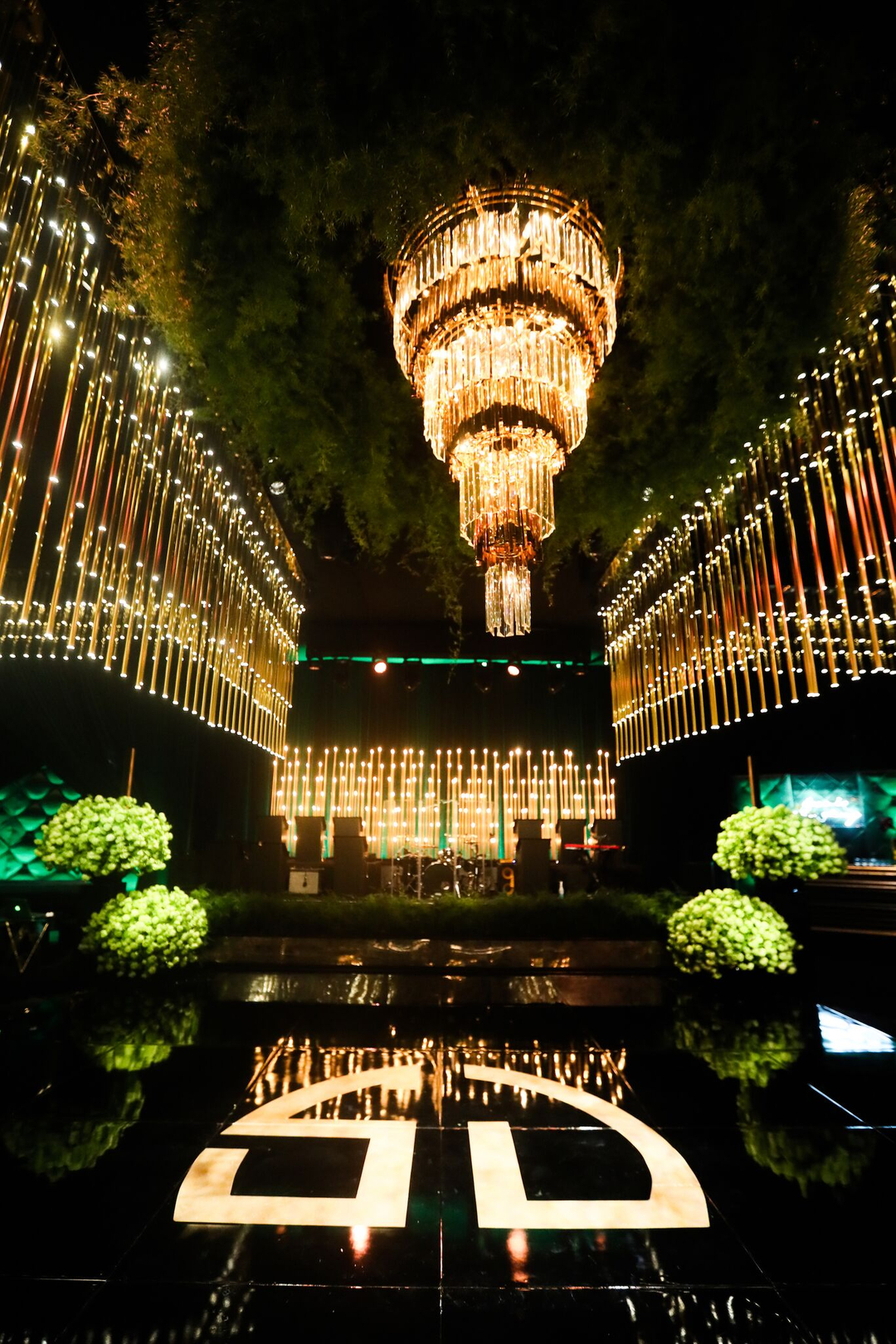 revelry event designers, green and gold wedding, the breakers palm beach