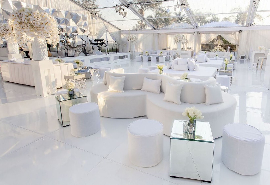 All White St Tropez Inspired Party Revelry Event Designers