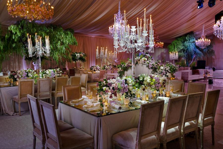 Lavish Draped Lavender Wedding