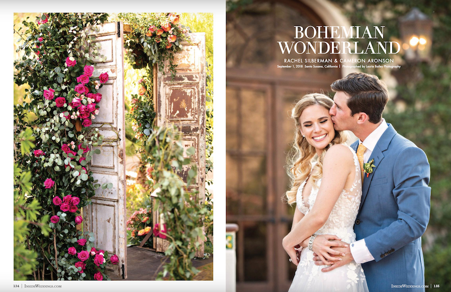 Vibrant Hummingbird Nest Ranch Wedding Featured in Inside Weddings