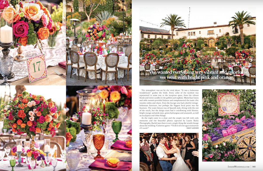 Vibrant Hummingbird Nest Ranch Wedding Featured in Inside Weddings1