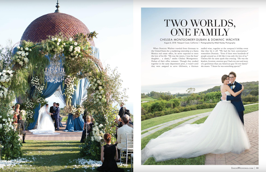 Whimsical Garden Inspired Pelican Hill Resort Wedding Featured in Inside Weddings