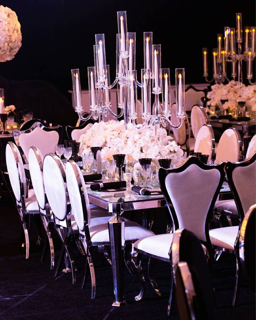 Glam Beverly Hills Wedding Reception1