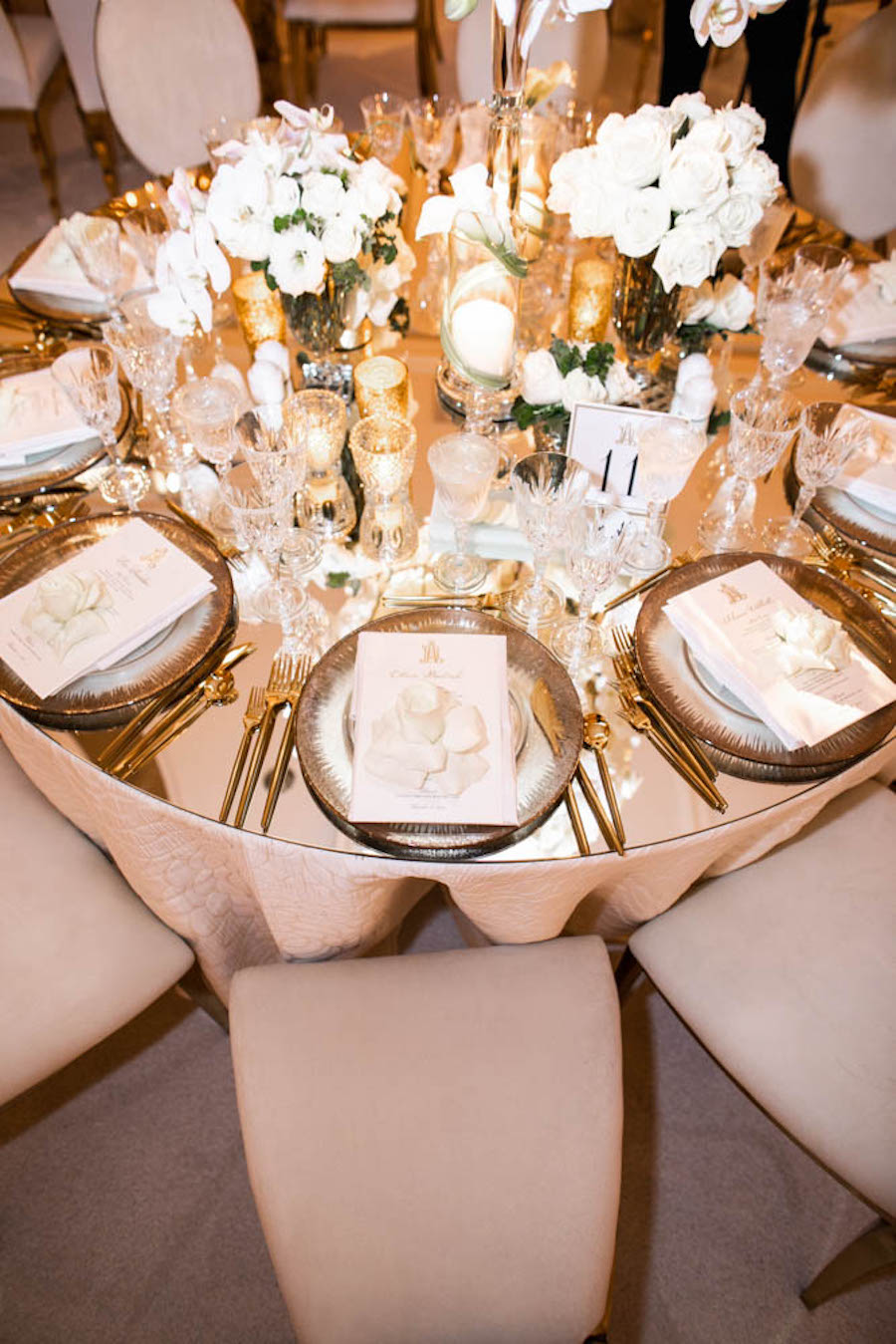 Luxury Gold and White Los Angeles Wedding
