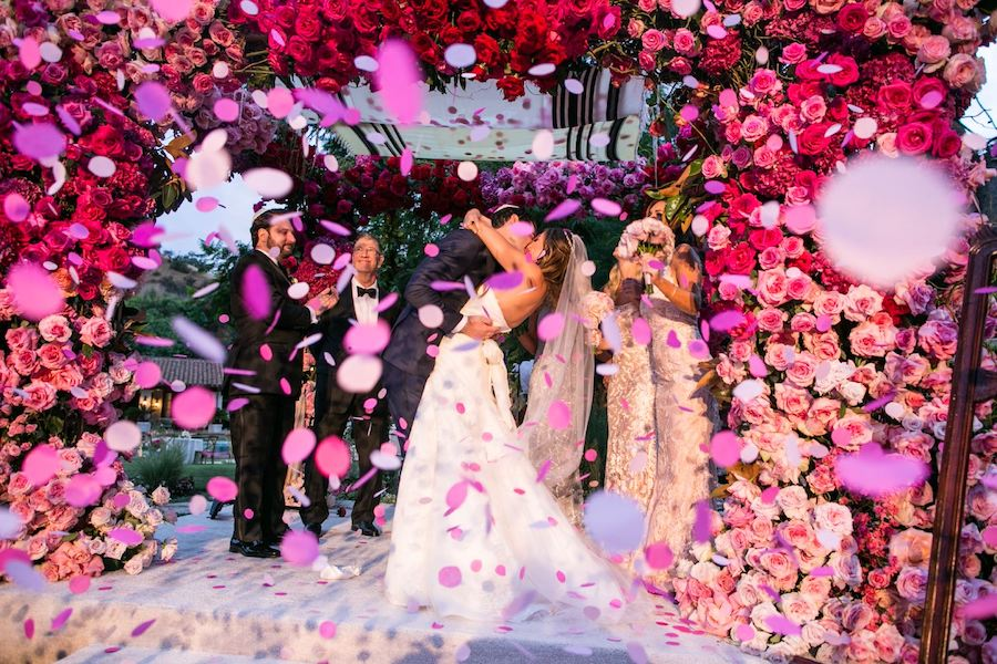 Pink Beverly Hills Wedding Featured in Inside Weddings
