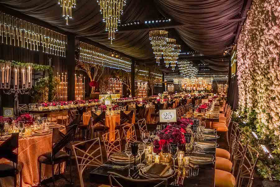 Spectacular Starry Wedding Night Reception