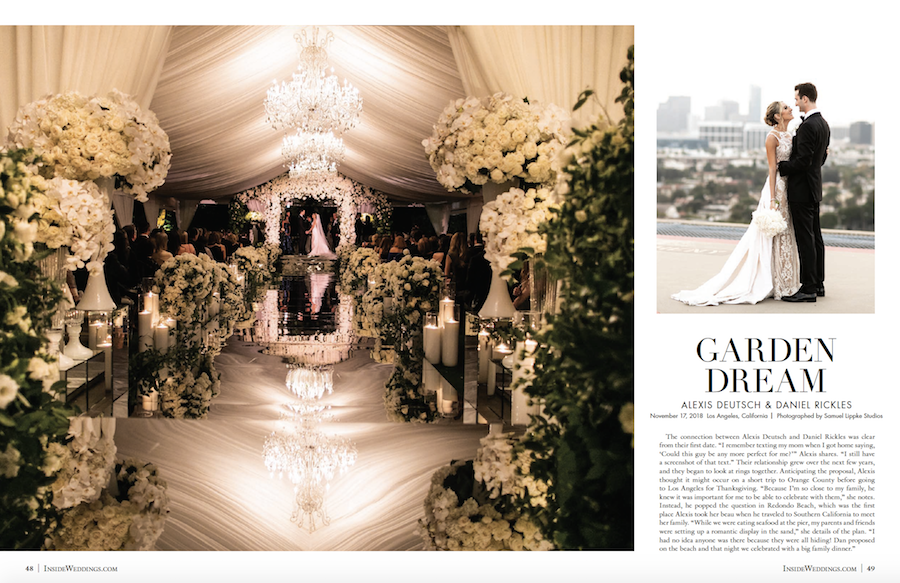 Floral Four Seasons Wedding Featured in Inside Weddings