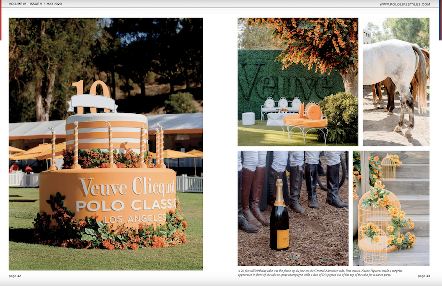 Veuve Clicquot Polo Classic Featured in Polo Lifestyles Magazine