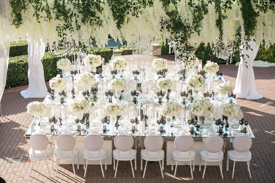 Extravagant Orange County All White Wedding 1