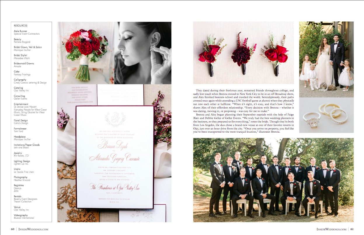 Fall Farmhouse Wedding Featured in Inside Weddings