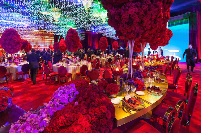 Red And Gold Dolby Theatre Wedding Reception Revelry Event
