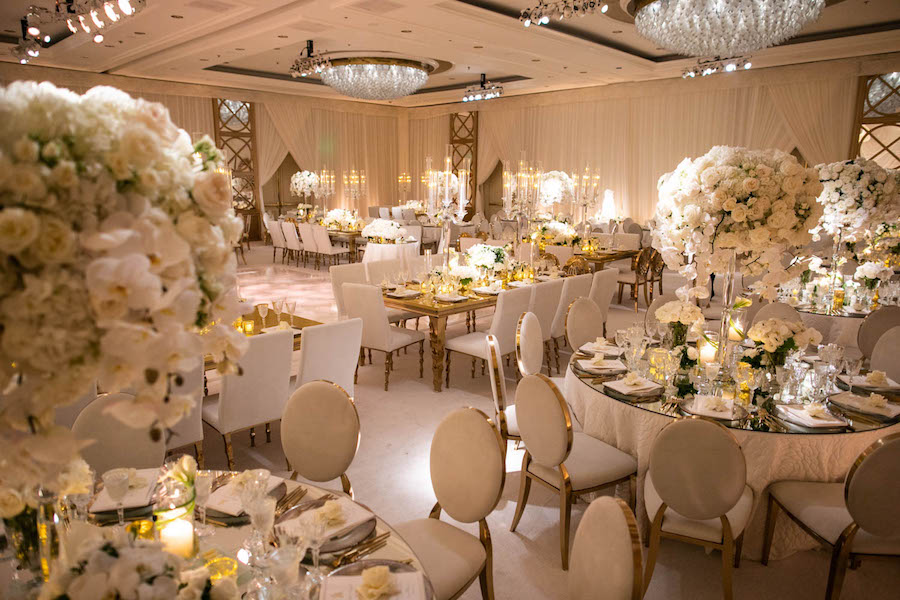Luxury Gold And White Los Angeles Wedding At The Four